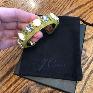 J. Crew neon and crystal cuff bracelet